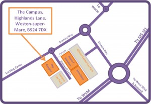 Map to The Campus
